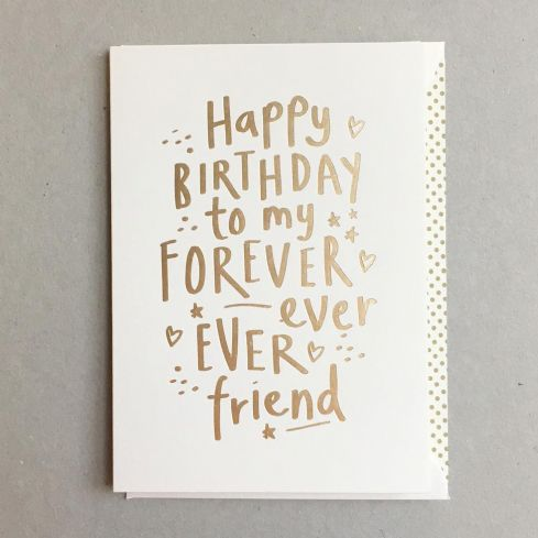 Megan Claire Greetings Cards - Forever Ever Friend Birthday Card